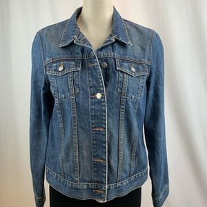 J.Crew  Traditional Button Up Blue Jean Jacket M